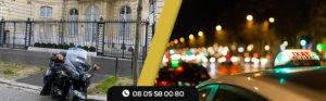 Incident entre une moto taxi et des chauffeurs de taxi à Orly