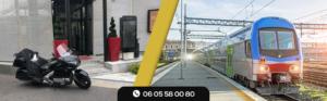 Nos Motos Taxis sur réservation en Gares SNCF