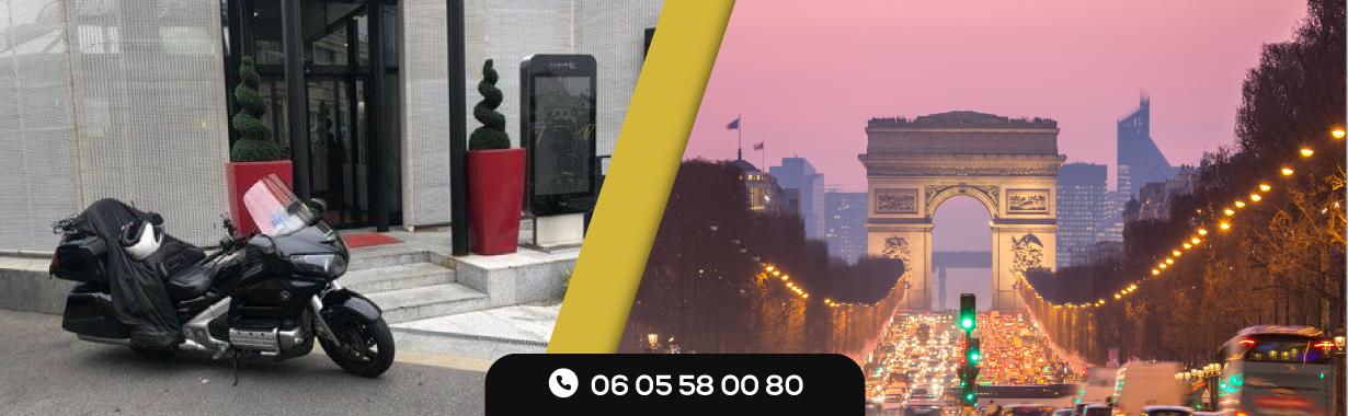 Faire une promenade magnifique dans les ruelles de la ville des lumières grâce à un taxi moto rapide et moderne