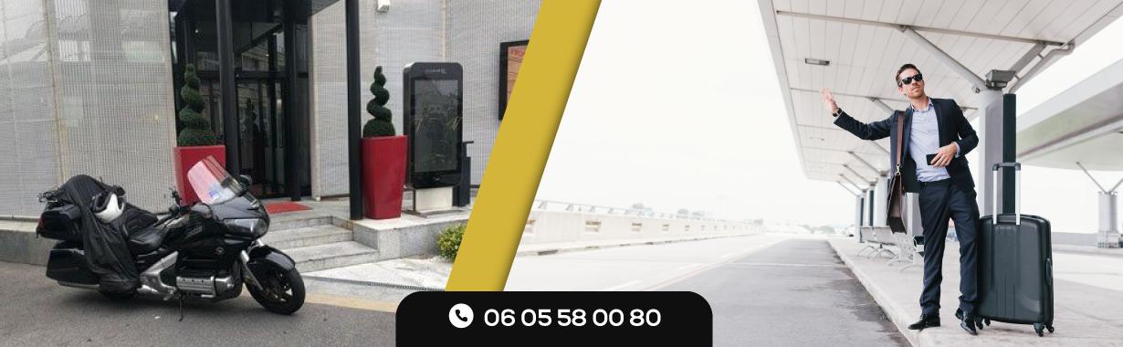 Un transfert rapide à l'aéroport en Moto Taxi